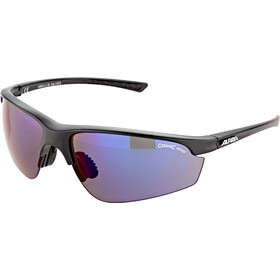 Alpina Tri-Effect 2.0 Okulary rowerowe, black matt/blue mirror
